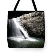 Australia - Welcome To Natural Arch Waterfall Tote Bag