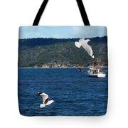 Australia - Seagulls And Trawlers Tote Bag