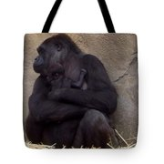 Australia - Baby Gorilla In Mums Arms Tote Bag