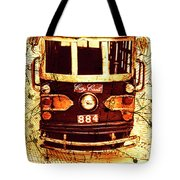 Australia Travel Tram Map Tote Bag