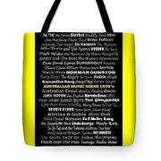 Australian Music Scene 1970's No 8 Tote Bag
