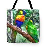Australian Parakeets Tote Bag