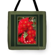 Australian Red Eucalyptus Flowers With Design Tote Bag