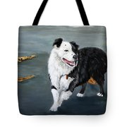 Australian Shepard Border Collie Tote Bag