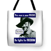 Australian This Man Is Your Friend  Tote Bag