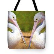 Australian White Pelicans Tote Bag