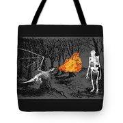 Australopithecus And The Dragon Tote Bag