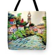 Austrian Alpine Village   Tote Bag