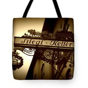 Austrian Beer Cellar Sign Tote Bag