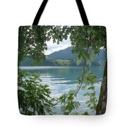 Austrian Lake Through The Trees Tote Bag