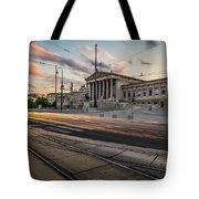 Austrian Parliament In Vienna Tote Bag