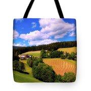 Austrian Rural Forest Vista Tote Bag