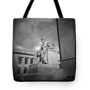 Authority Statue At The Courthouse In Memphis Tennessee Tote Bag