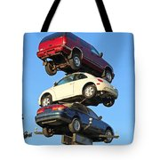 Auto Pile Up Tote Bag