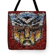 Autobot Transformer Bottle Cap Mosaic Tote Bag