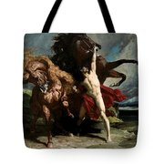 Automedon With The Horses Of Achilles Tote Bag