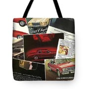 Automotive Ad's Collage 2 Tote Bag