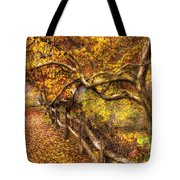 Autumn - Landscape - Country Road Side Tote Bag