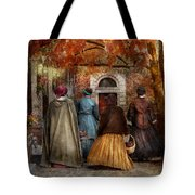 Autumn - People - A Walk Downtown  Tote Bag