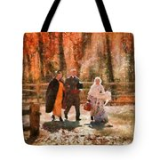Autumn - People - A Walk In The Countryside Tote Bag
