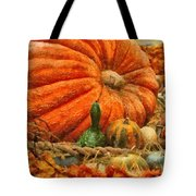 Autumn - Pumpkin - Great Gourds Tote Bag by Mike Savad