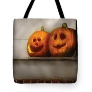 Autumn - Pumpkins - Two Goofy Pumpkins Tote Bag