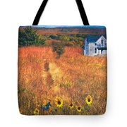 Autumn Abandoned House In The Prairie Tote Bag