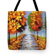 Autumn Alley Tote Bag