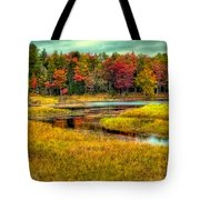 Autumn Along The River Tote Bag