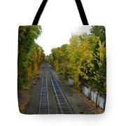 Autumn Along The Tracks Tote Bag