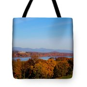 Autumn And The Hudson River Tote Bag