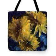 Autumn Asters Tote Bag