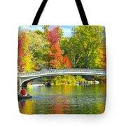 Autumn At Bow Bridge Central Park Tote Bag