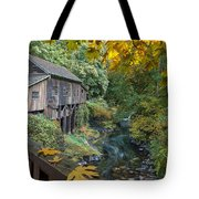 Autumn At Cedar Creek Grist Mill Tote Bag