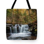 Autumn At Dunloup Creek Falls Tote Bag