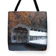 Autumn At Knox Covered Bridge In Valley Forge Tote Bag by Bill Cannon