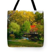 Autumn At Lafayette Park Bridge Landscape Tote Bag