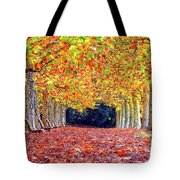 Autumn At Shinjuku Park Tote Bag