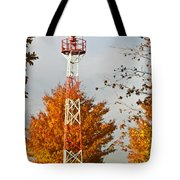 Autumn At The Airport Light Tower Tote Bag