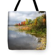 Autumn At The Lake In Nh Tote Bag