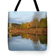 Autumn At The Old Stone Church Tote Bag by Luke Moore