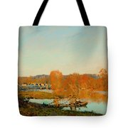 Autumn Banks Of The Seine Near Bougival Tote Bag