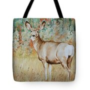 Autumn Beauty- Mule Deer Doe  Tote Bag