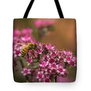 Autumn Bee On Flowers Tote Bag