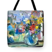 Autumn Behind The Window Tote Bag