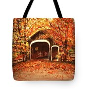 Autumn Bike Ride Tote Bag