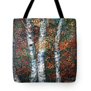 Autumn Birch Tote Bag