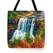 Autumn Blackwater Falls - Paint 3 Tote Bag