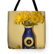 Autumn Blossoms And Blue Vase Tote Bag
