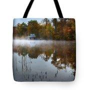 Autumn Boathouse Tote Bag